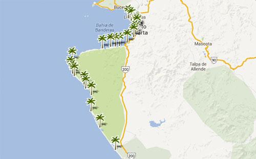 Mapa De Playas En  Jalisco